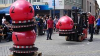 Gabelstapler-Contest im Rahmen des Heilbronner Diakoniefestes
